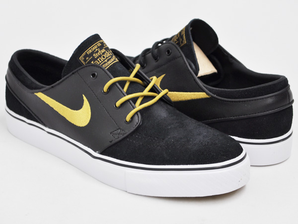 325e0ff60f5b gettry  NIKE ZOOM STEFAN JANOSKI SB BLACK   METALLIC GOLD - WHITE ...