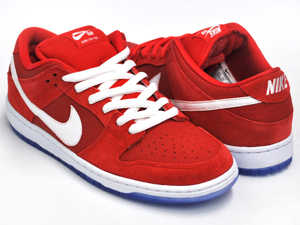 huge discount 147bc 50312 NIKE DUNK LOW PRO SB CHALLENGE RED / WHITE - UNVRSTY BL