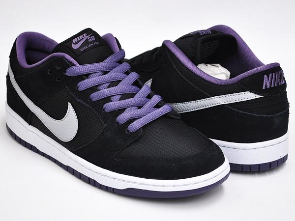 sports shoes 654a8 04da0 NIKE DUNK LOW PRO SB BLACK / WOLF GREY - CANYON PURPLE