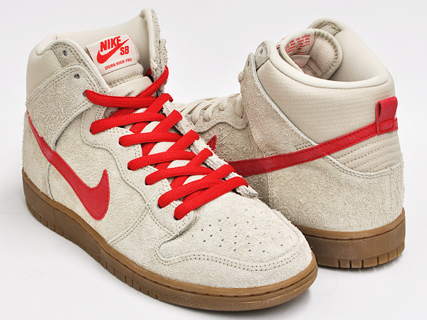 NIKE DUNK HIGH PRO SB BIRCH / HYPER RED