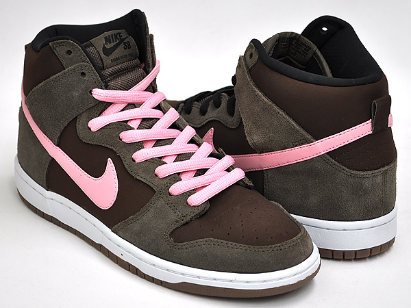 new product c06ec 405b2 NIKE DUNK HIGH PRO SB SMOKE / ION PINK - BAROQUE BROWN