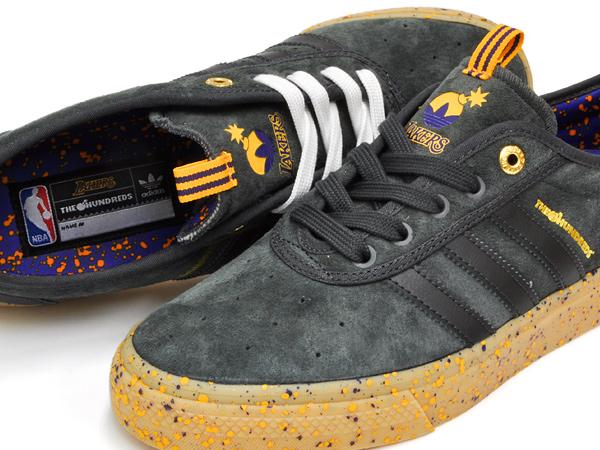 sports shoes 9f296 1db00 adidas ADI-EASE ADV X THE HUNDRED LOS ANGELES LAKERS アディダス アディ イーズ  アドバンス ザ・ハンドレッツ ロサンゼルス・レイカーズ