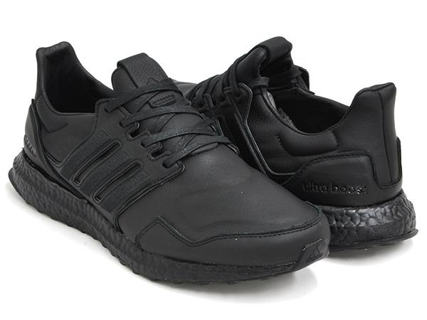【2020 SPRING 新入荷】  adidas ULTRA BOOST LEATHER''TRIPLE BLACK''【アディダス ウルトラ ブースト レザー トリプルブラック】BLACK / BLACK / BLACK