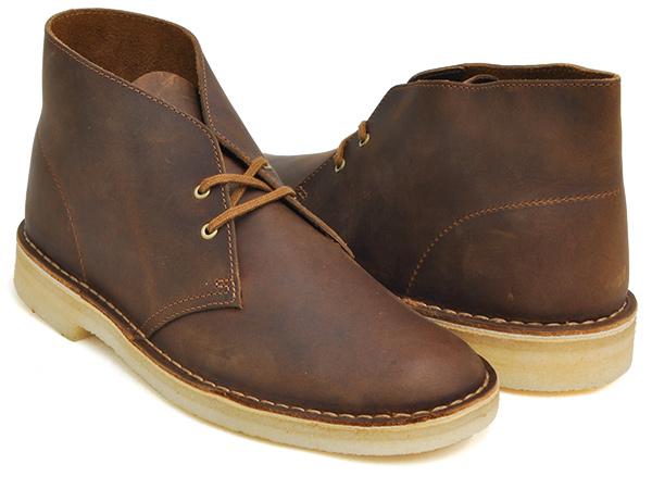Clarks DESERT BOOT【クラークス デザート ブーツ】【ビーズワックス ブラウン 茶 レザー カジュアル シューズ メンズ 紳士 男性】BEESWAX (WIDTH:G)