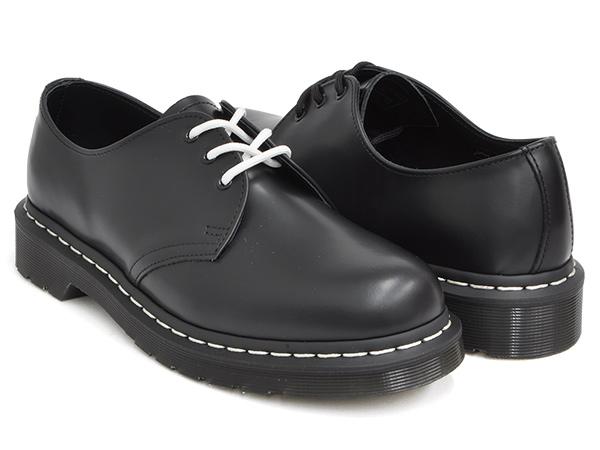 Dr.Martens 1461 WHITE STITCH 3EYE GIBSON SHOE【ドクターマーチン 3 アイ ギブソン シューズ ホール】【革靴 ブーツ メンズ ウィメンズ レディース ユニセックス 男性 女性】BLACK SMOOTH