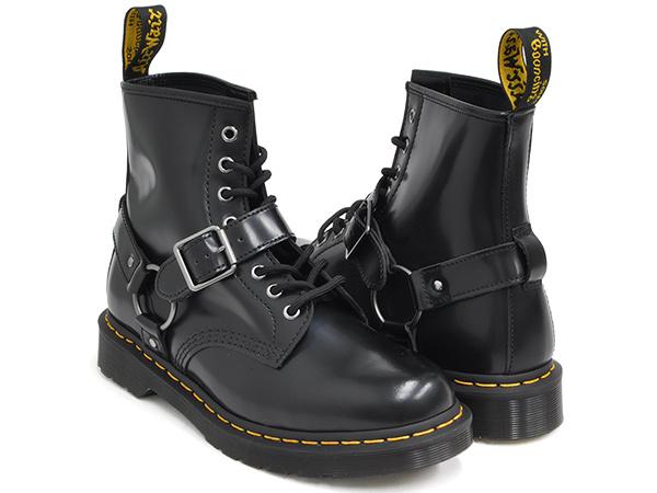 Dr.Martens 1460 HARNESS 8EYE BOOT【ドクターマーチン ハーネス 8 アイ ブーツ ホール】【革靴 シューズ メンズ ウィメンズ レディース ユニセックス 男性 女性】BLACK POLISHED SMOOTH