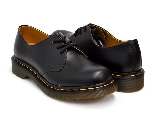 Dr.Martens 3EYE GIBSON SHOE #1461 WOMENS【ドクターマーチン 3 アイ ギブソン シューズ ウィメンズ】BLACK SMOOTH