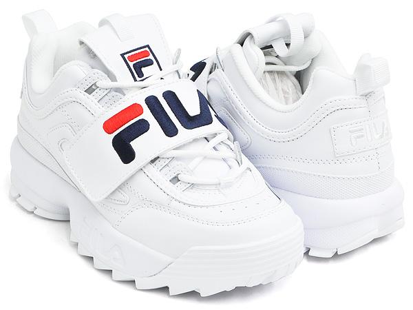 FILA DISRUPTOR II PREMIUM APPLIQUE WHITE FILA NAVY FILA RED (5FM00075 125)