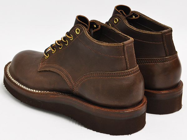NICKS BOOTS OXFORD 4inch WALNUT SMOOTH LEATHER 2021 VIBRAM SOLE (BROWN) (WIDTH:E)