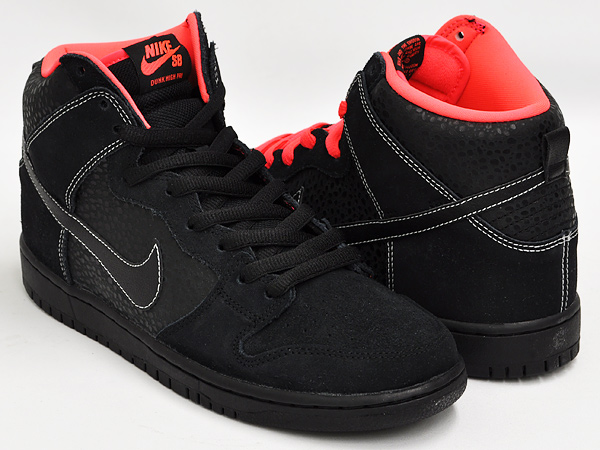 separation shoes d4331 bbe24 NIKE DUNK HIGH PRO SB BLACK   BLACK - ATOMIC RED - WHITE ...