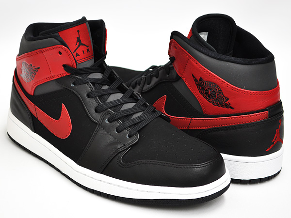 air jordan 1 mid black gym red
