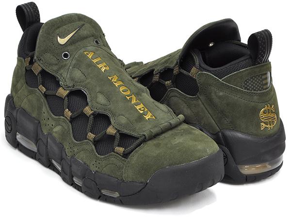 separation shoes b260b 98ad6 NIKE AIR MORE MONEY QS   US DOLLAR   SEQUOIA   METALLIC GOLD - BLACK