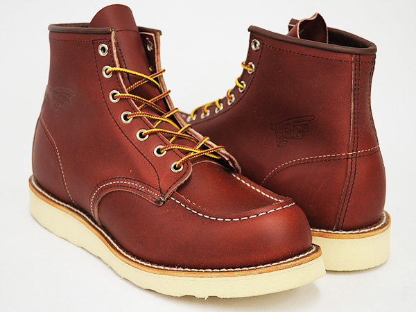 RED WING 6INCH MOC TOE BOOT '' IRISH SETTER' ' #8131 ORO-RUSSET PORTAGE  WIDTH:D