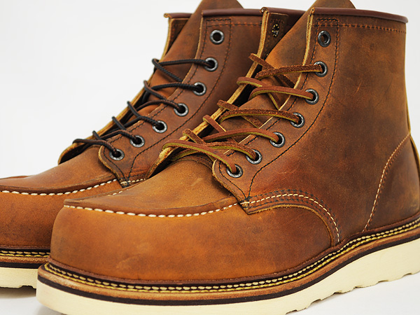 RED WING 6INCH MOC TOE BOOT '' IRISH SETTER' ' # 1907 COPPER ROUGH &TOUGH WIDTH:D