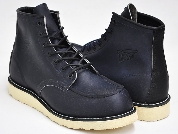RED WING 6INCH MOC TOE BOOT '' RONNIE FIEG' ' #4560 ASHY NAVY WIDTH:D