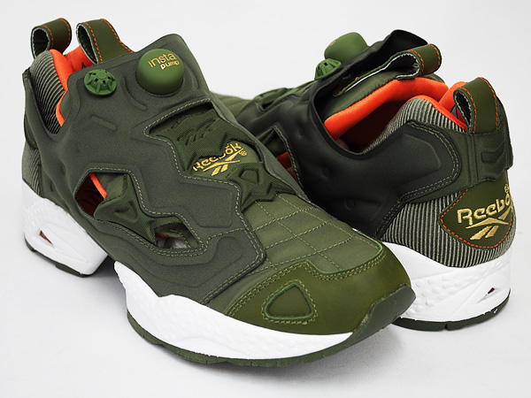 reebok insta pump fury moss green