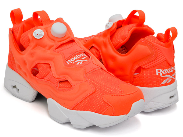 783f504846c1 gettry  Reebok INSTA PUMP FURY TECH SOLAR ORANGE   WHITE