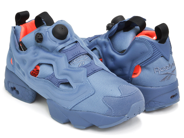 f2e6559e0a10 gettry  Reebok INSTA PUMP FURY TECH BLUE SLATE   BLACK   SOLAR ...