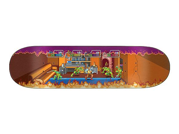 Santa Cruz TMNT ARCADE EVERSLICK SANTA CRUZ SKATEBOARD DECK【サンタクルーズ アーケード エバースリック スケートボードデッキ】【ティーンエイジ・ミュータント・ニンジャ・タートルズ Teenage Mutant Ninja Turtles】8.5in x 32.2in