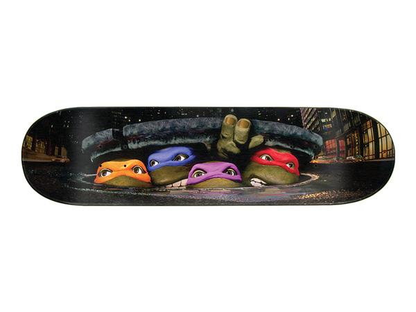 Santa Cruz TMNT POSTER EVERSLICK SANTA CRUZ SKATEBOARD DECK【サンタクルーズ ポスター エバースリック スケートボードデッキ】【ティーンエイジ・ミュータント・ニンジャ・タートルズ Teenage Mutant Ninja Turtles】8.25in x 31.8in