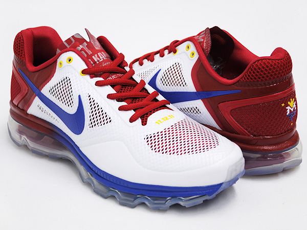 NIKE AIR TRAINER 1.3 MAX BREATHE MP ''MANNY PACQUIAO'' WHITE VARSITY ROYAL VRSTY RED