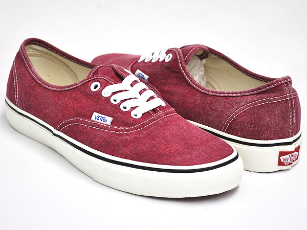 4a5af1a9ca gettry  VANS AUTHENTIC (WASHED) RIO RED