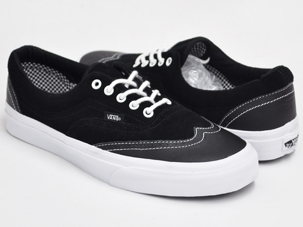 VANS ERA WINGTIP (LEATHER / SUEDE) BLACK