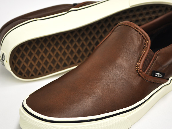 VANS CLASSIC SLIP-ON (AGED LEATHER) BROWN