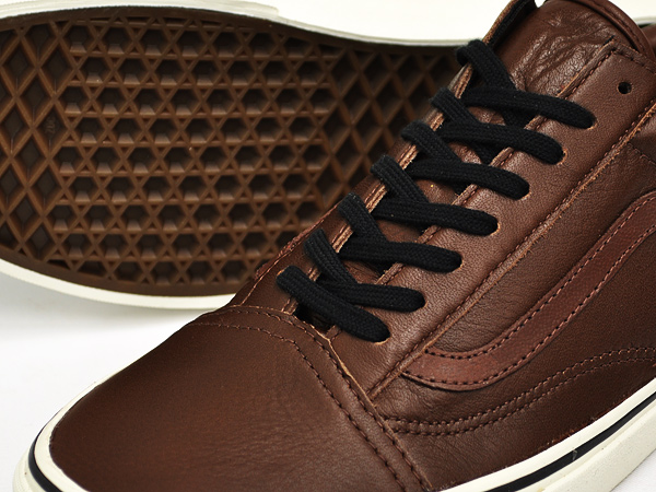 Vans Old Skool Cuir Marron zVwNlX1CD