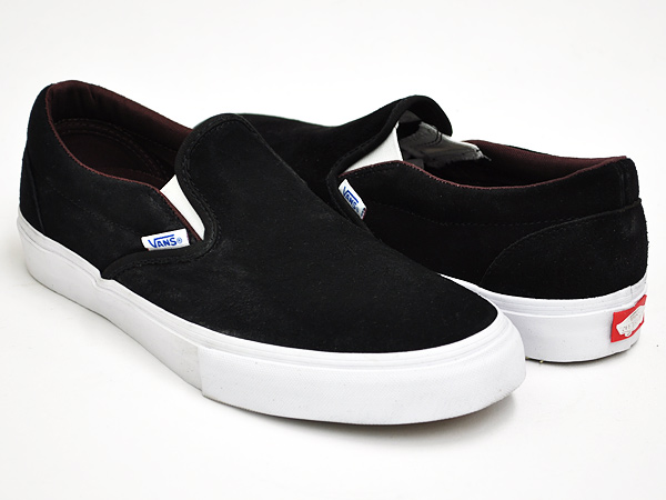 VANS SLIP-ON PRO BLACK / DEEP MAHOGANY