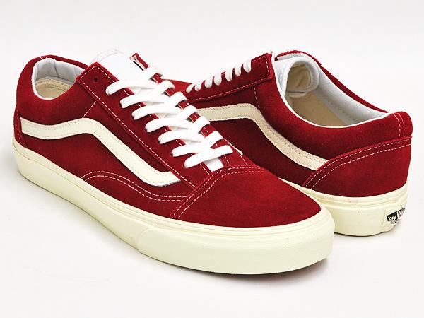 vans red and white old skool