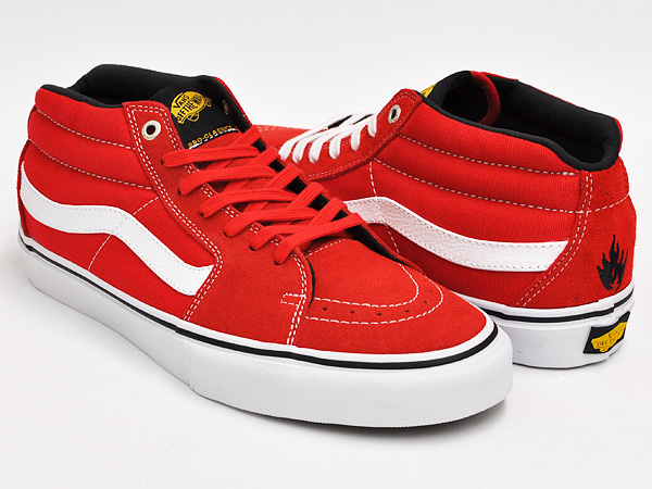 8933e3193c gettry  RED VANS SK8-MID PRO (BLACK LABEL)