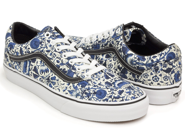 093242408585c6 gettry  VANS OLD SKOOL (LIBERTY) FLORAL VINES