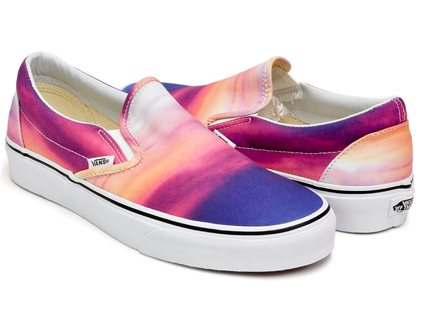 7db377bfde gettry  VANS CLASSIC SLIP-ON (SUNSET) PURPLE   TRUE WHITE