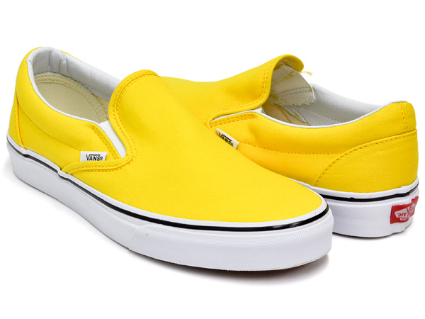 7ae8759a68ac57 gettry  VANS CLASSIC SLIP-ON VIBRANT YELLOW   TRUE WHITE