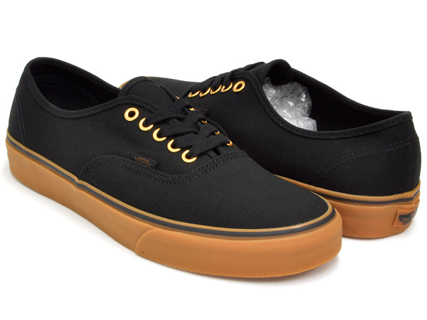VANS AUTHENTIC BLACK / RUBBER