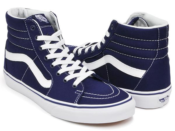 e5f57b3ab8233f gettry  PATRIOT BLUE VANS SK8-HI (CANVAS)