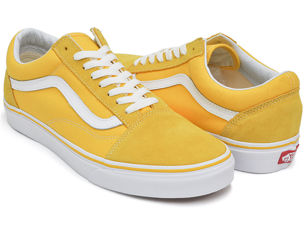 a80049d6d90 gettry  VANS OLD SKOOL (SUEDE   CANVAS) SPECTRA YELLOW   TRUE WHITE ...