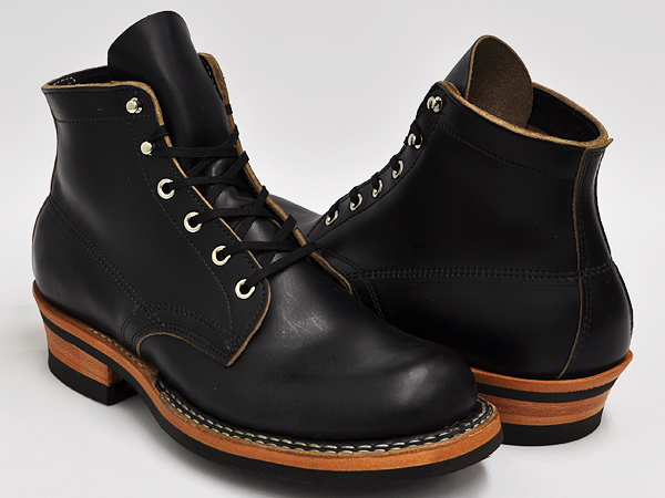 WHITE'S BOOTS SEMI DRESS (SWING LAST) BLACK CHROME EXCEL LEATHER #430 VIBRAM SOLE (WIDTH:E)