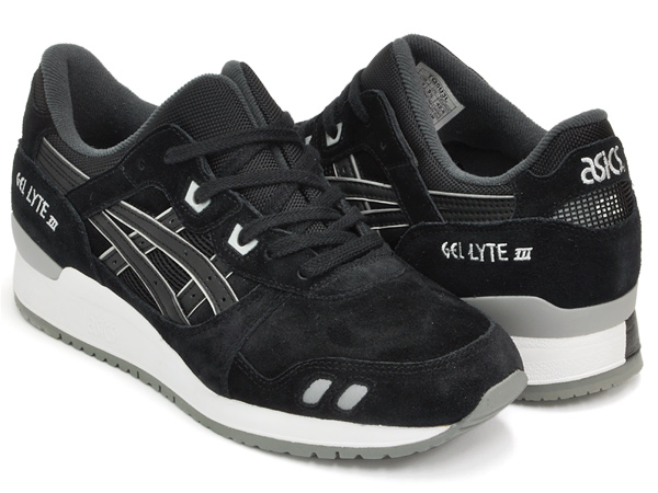 asics tiger gel lyte iii black