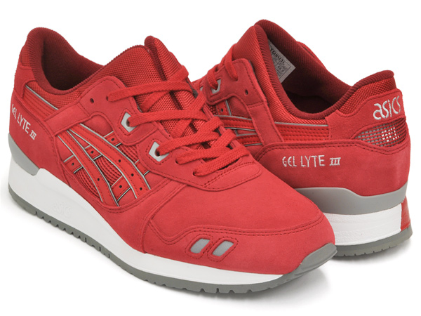 official photos 7681a 0558b ASICS Tiger GEL-LYTE III RED / RED