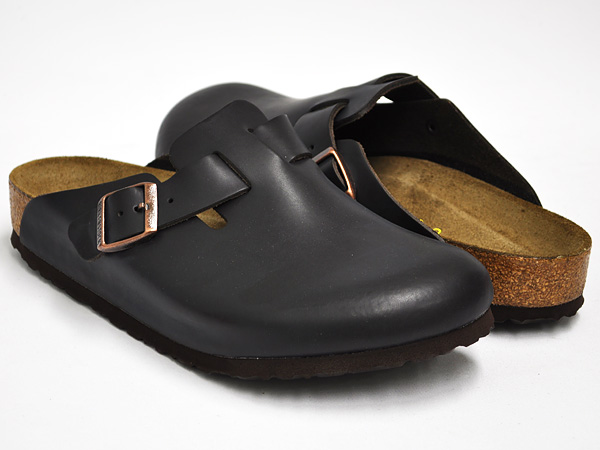 BIRKENSTOCK Boston BROWN SMOOTH LEATHER (SOFT FOOTBED)