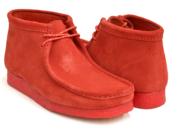 2020 WEB限定 FW 新作 Clarks 人気海外一番 WALLABEE BOOT クラークス ワラビー ブーツ レッド 赤 RED スウェード メンズ カジュアル SUEDE 男性 シューズ WIDTH:G スエード 紳士