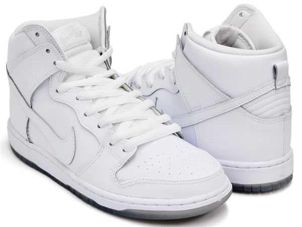 NIKE DUNK HIGH PRO SB ''WHITE ICE'' WHITE / WHITE - LT BASE GREY