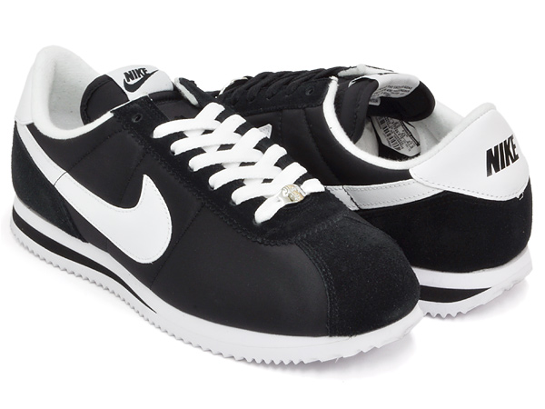 gettrymag  NIKE CORTEZ BASIC NYLON   06 BLACK WHITE  6e5cbe6a9