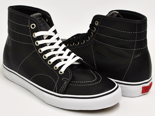 75412d2a43 gettrymag  VANS AV CLASSIC HIGH s   BLACK WHITE   RED