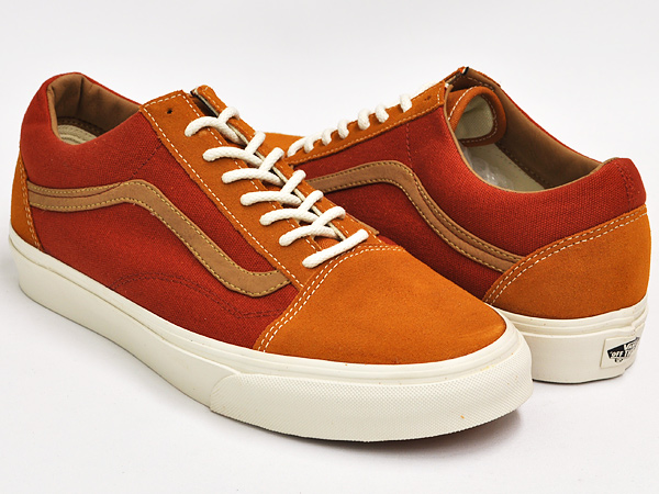 orange vans old skool