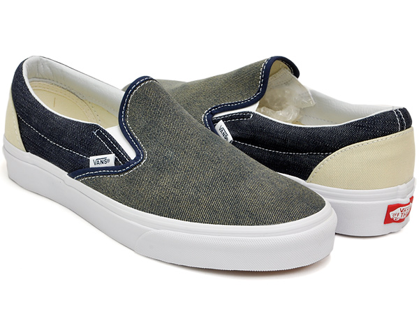 vans slip on denim