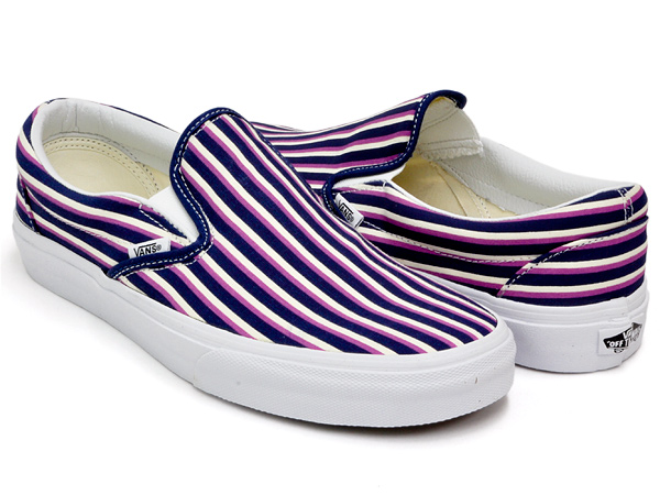 VANS CLASSIC SLIP-ON (MULTI STRIPES) BL/RDT ORCD