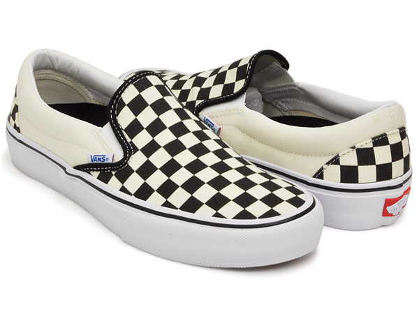 vans slip on pro checkerboard